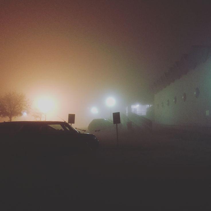 Foggy night #fog #night #padania