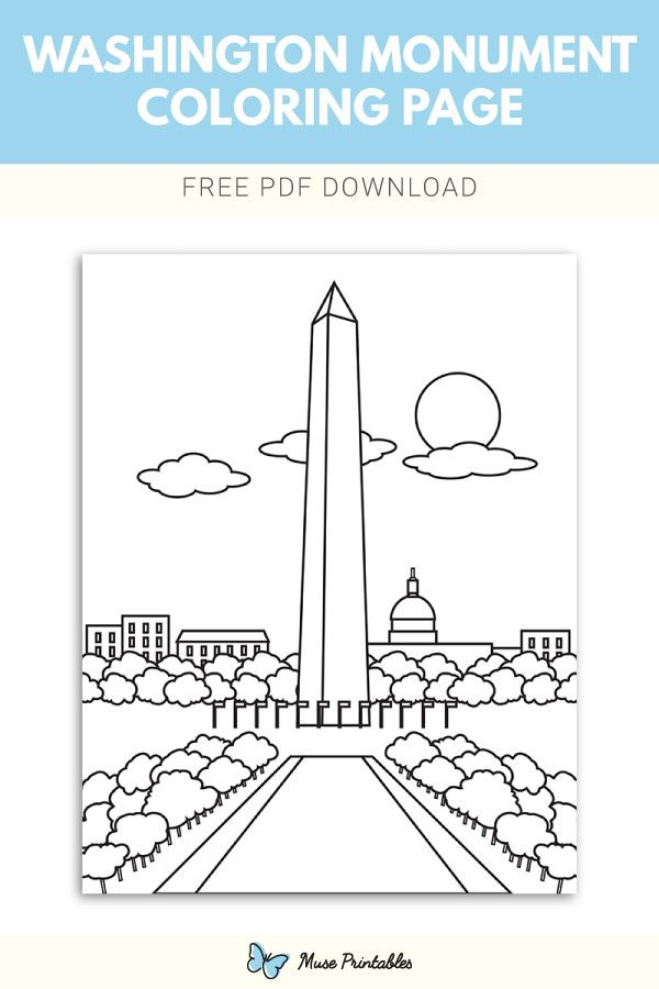 Free Printable Washington Monument Coloring Page Download It At