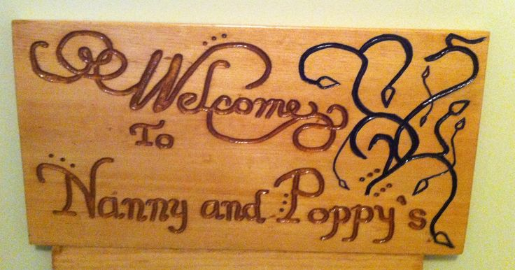 Hand Carved Gift For Nanny And Poppy