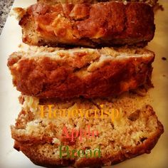 HONEYCRISP APPLE BREAD - This quick bread recipe is made with Honeycrisp apples. It's moist and delicious and your house will smell amazing while it's baking in the oven!