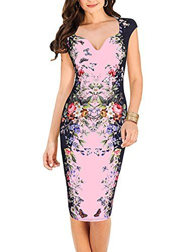 New Trending Formal Dresses: Oxiuly Women's Print Formal Work Sheath Cotton Party Evening Cocktail Dress X160 (XL, Pink). Special Offer: $25.99 amazon.com Please check your measurements to make sure the item fits before ordering. (Please note 1 cm=0.39 inch,1 inch=2.54 cm.) Pls allow 0.5 inch-1 inch differs due to manual measurements, your understand will be much appreciated!!! Note:This is the tile size...