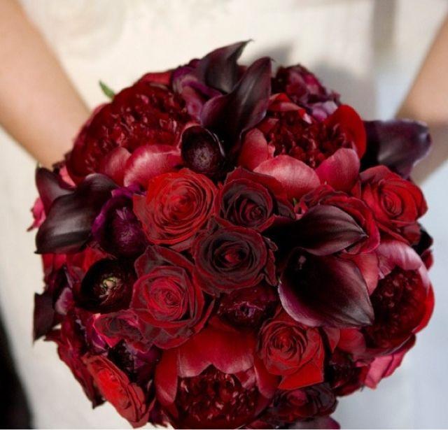Deep Red Bouquet| Goth Wedding| Gothic wedding bouquet