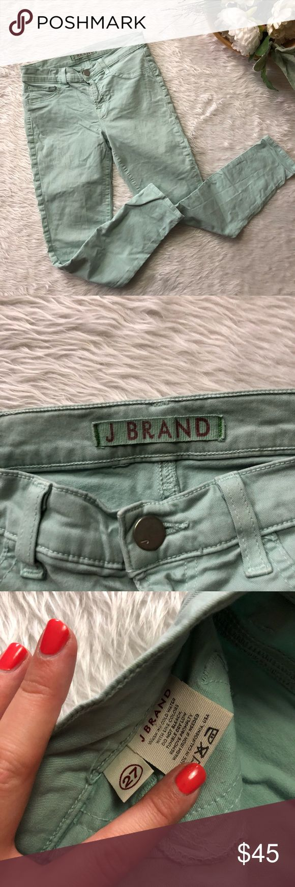 J.Brand Mint Capri This pant is in great condition! Size 27  Waist is approx 14 inches  Inseam is approx 25 inches Rise is 8.5 inches  Smoke and pet free home! No flaws like stains or holes! No modeling No trades! J Brand Pants Ankle & Cropped