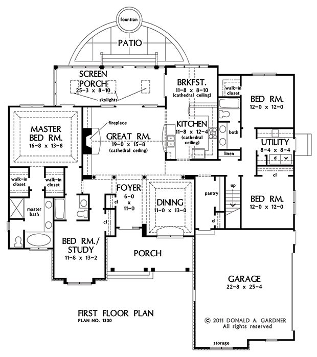 Donald gardner first floor plan of the lennon house for Expanded ranch floor plan