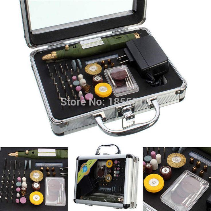 80pcs Electric Rotary Drill Grinder Polish Sanding Tool Set Kit Dremel Bit Case With Box