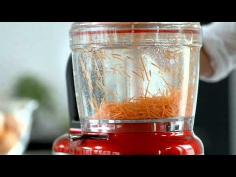 ▶ KitchenAid Food Processor - Cutting techniques -