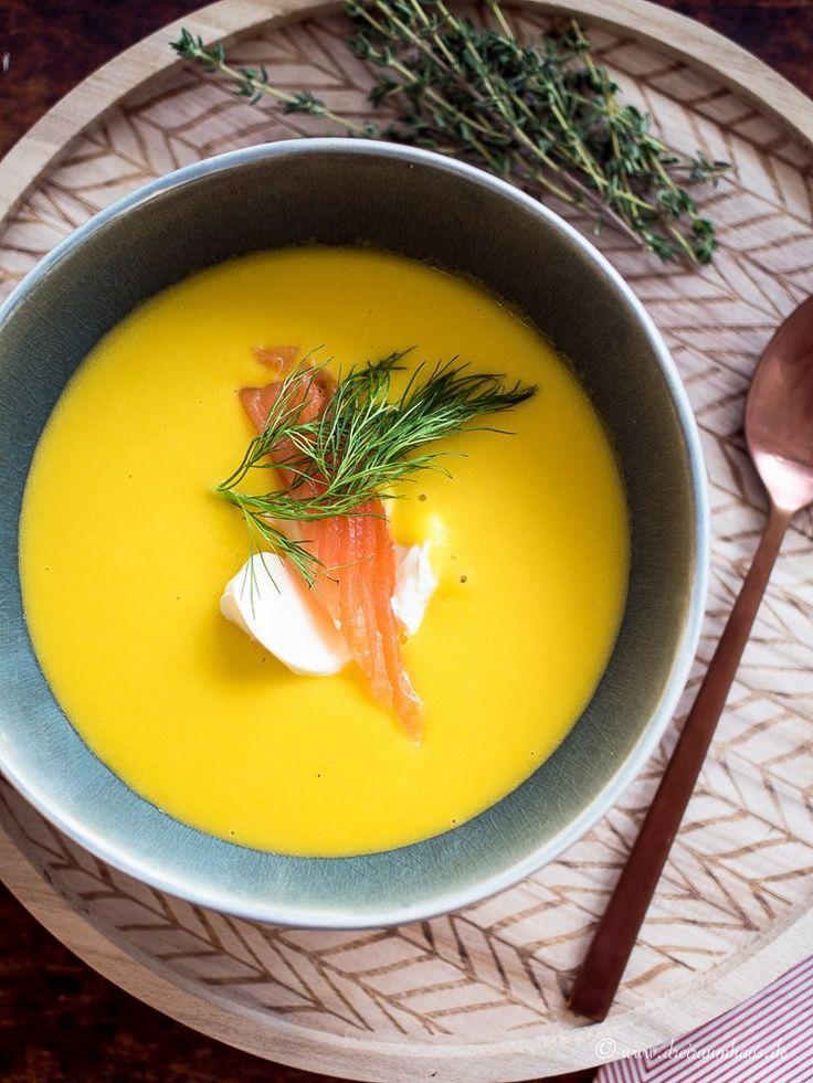 Kartoffel Möhren Suppe mit Lachs im YUMMIE! Montagsmampf...