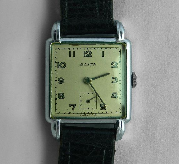 Blita gents watch . vintage 1950's Blita door Vintageclocksandmore
