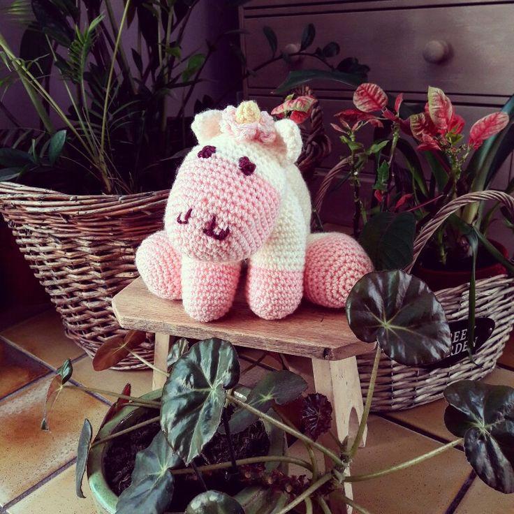 Joli licorne au crochet