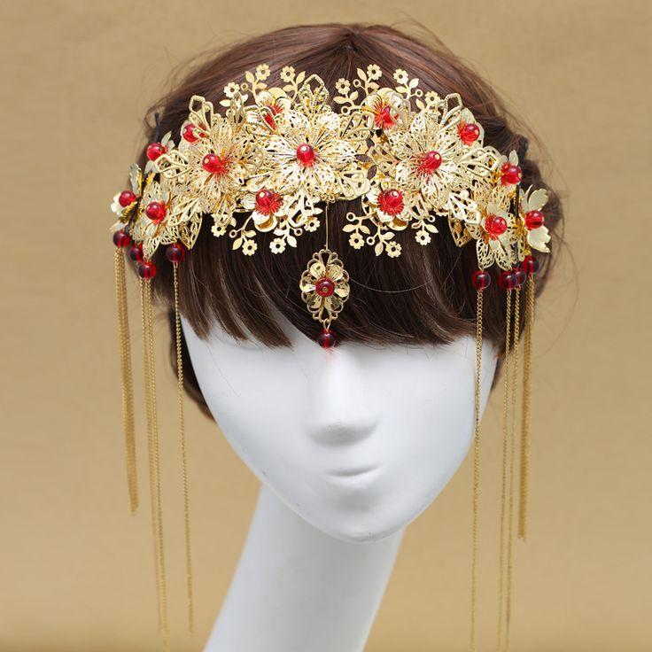 Корона костюм головной убор невесты кисточка расчёска вставляется расчёска сю одежда чонсам платье дракон аксессуары