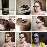 The Faux Housewife: No-heat curls for short hair.