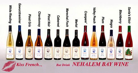 Nehalem Bay Winery wine selection. The peach wine is amazing.