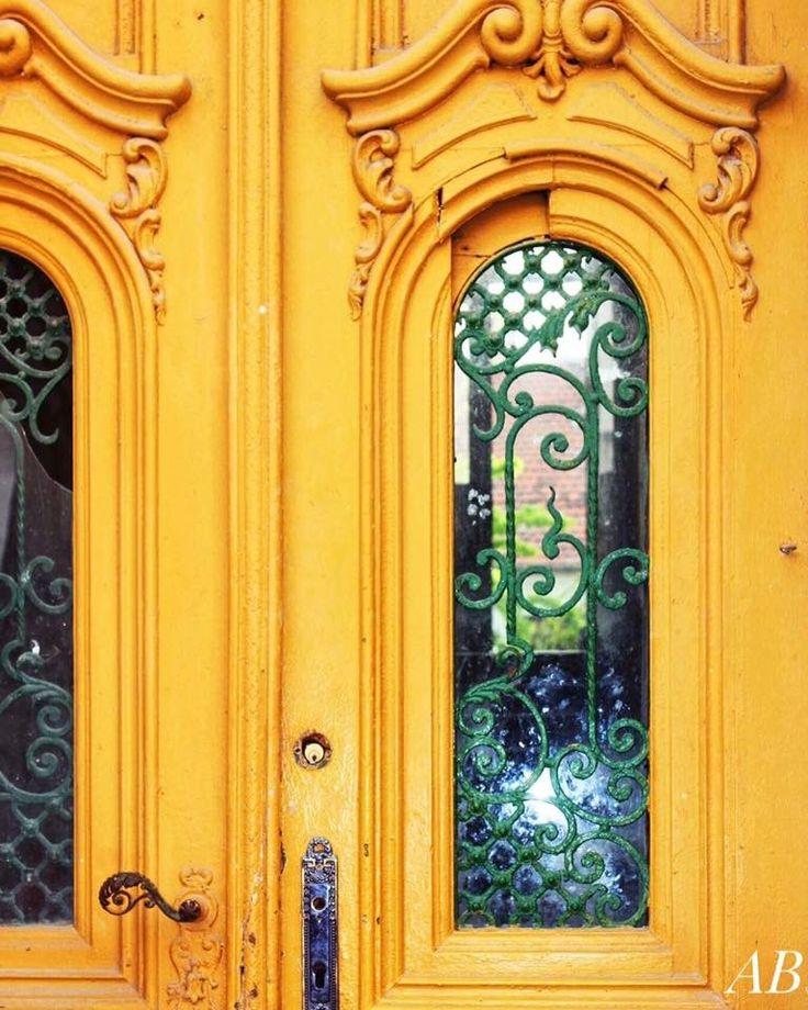 Yellow door,Saint Mary Square Timisoara