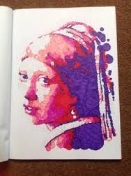 "Querkles Masterpieces: A Puzzling Colour by Numbers Book: by Thomas Pavitte - Johannes Vermeer ""Girl with a Pearl Earring"""