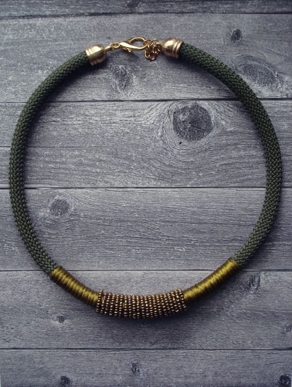 Olive Rope Necklace