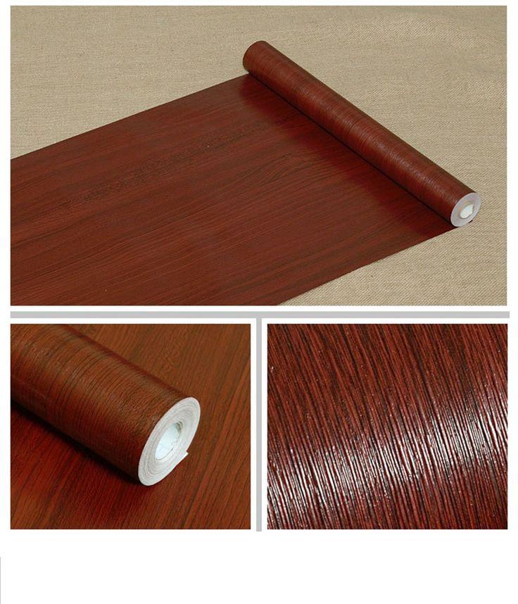 Self Adhesive Mahogany Wood Grain Contact Paper Covering ...
