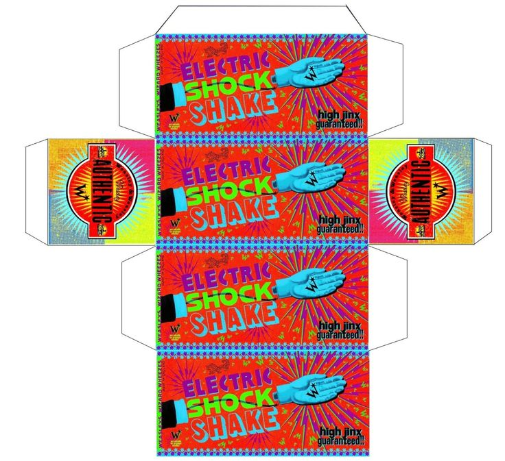 Weasley's Wizard Weezes product box: Electric shock shake!