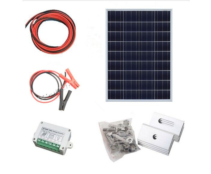 >> Click to Buy << 100W ,   2*50W solar panel kit  with controller PV solar extension cable with  battery clip , 100w off grid system * #Affiliate