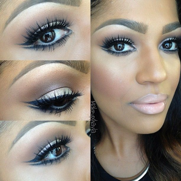 "#ShareIG Makeup of the day! Double winged eyeliner using Mac black track. @House of Lashes ""noir fairy"" lashes. Mac vex on the lid. Mac cork & espresso in the crease. Mac studio fix fluid. Mac sweet as cocoa blush. Mac Yash lipstick with myth lipglass. #houseoflashes #makeupartist"