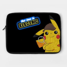75ac677e Leaning Detective Pikachu (V2) - Pikachu - Kids T-Shirt | TeePublic ...