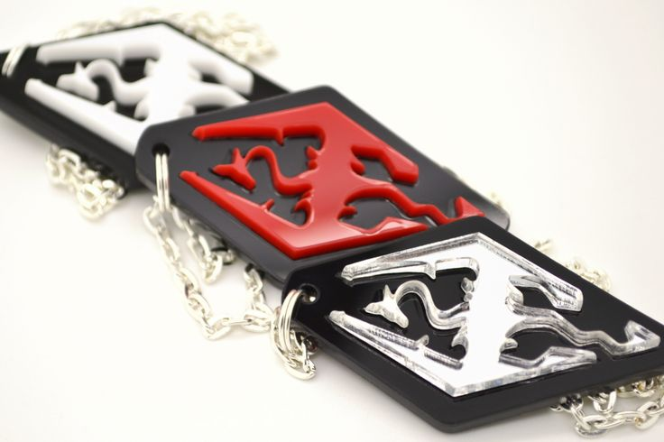 Skyrim Necklace - Laser Cut Acrylic Skyrim Dragon - Skyrim Logo