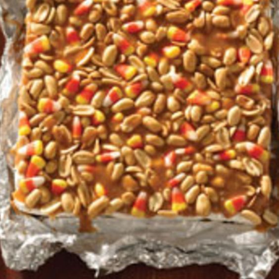 Trick or Treat Salted Nut Bars,, I love mixing the nuts and corn,,, how can this be bad???!!!!: