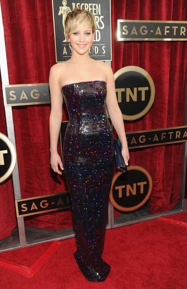 SAG Awards 2014: Jennifer Lawrence in Dior