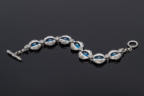 Handmade Sterling Silver925 Bracelet with by ExclusiveSilverArt