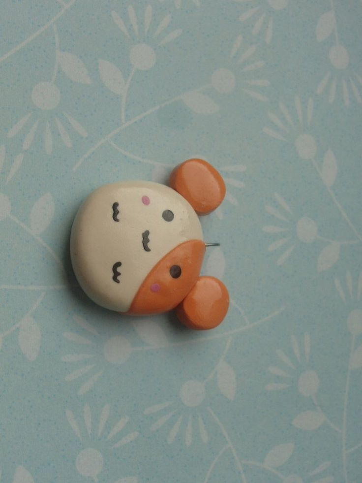 Cute hamster keychain made out of clay super simple ...