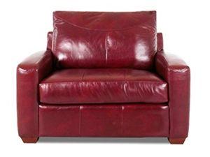 Klaussner Leather Sleep Chair