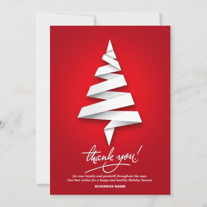 Business Holiday Thank You Cards Zazzle Com Business Christmas Cards Personalised Christmas Cards Company Christmas Cards