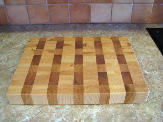 Handmade Ash Maple Red Oak Wood End Grain Cutting by GWCWoodcrafts