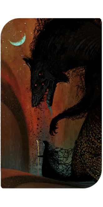 Dragon Age: Inquisition - the Tower tarot card (official artwork)