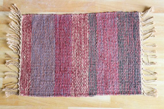 Handwoven jute Dhurrie, Jute small Rug, Handmade Rug, Small Mat, Minimalist Design, Stripes, Small Rug, Traditional, Modern, FREE SHIPPING