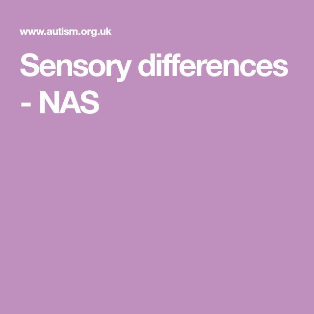 Sensory differences - NAS