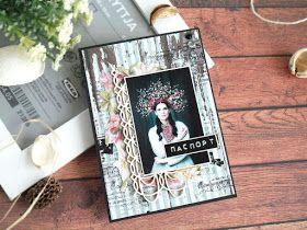 скрапбукинг, обложка на паспорт для женщины, красивая обложка на паспорт