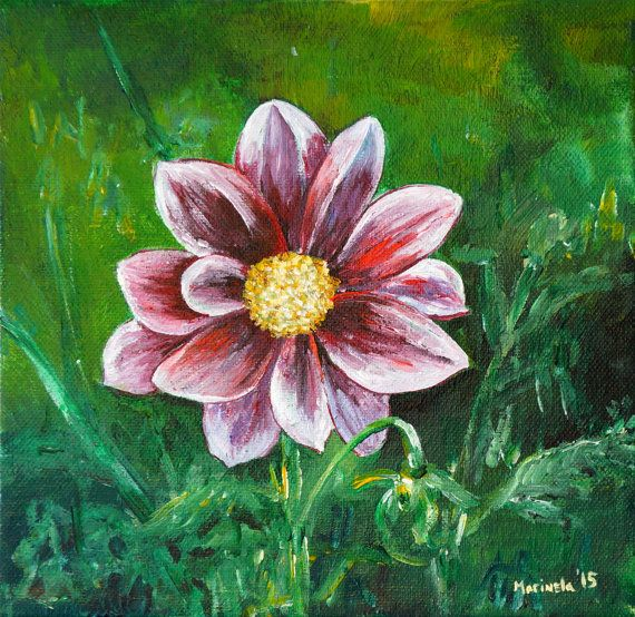 25 best original fine art acrylic paintings on canvas for Painting large flowers in acrylic