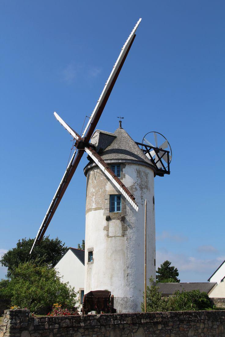 Moulin à Piriac-Sur-Mer, Loire-Atlantique. Bretagne