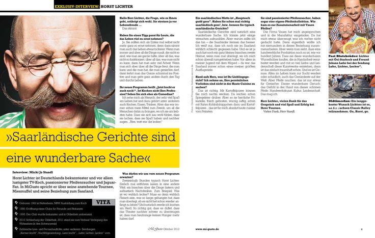 """Exklusivinterview mit Starkoch Horst Lichter, Magazin """"Migusto"""""""
