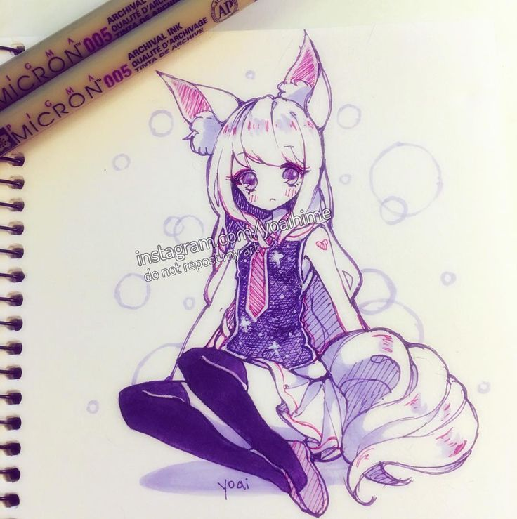 """""""By the time I remembered what I said yesterday about trying to draw something without purple and pink, it was already too late......(´・ω・`) nyeh. (BnS inspired character)"""""""