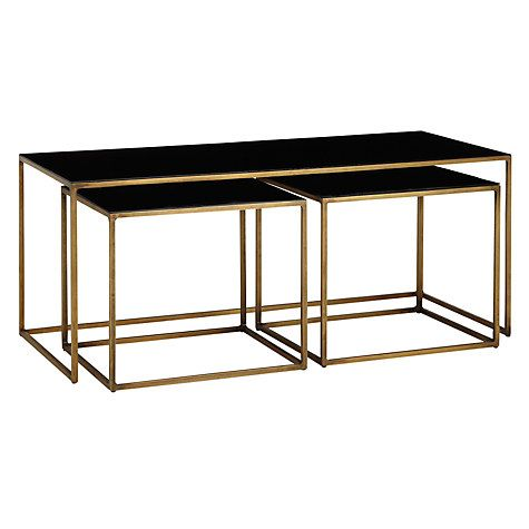 £699 Buy Content by Terence Conran Coffee Black Enamel Table and 2 Side Tables Online at johnlewis.com