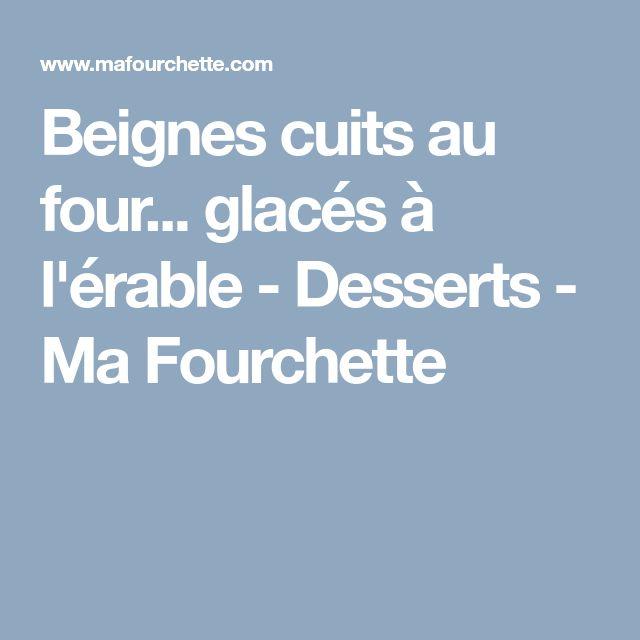 Beignes cuits au four... glacés à l'érable - Desserts - Ma Fourchette
