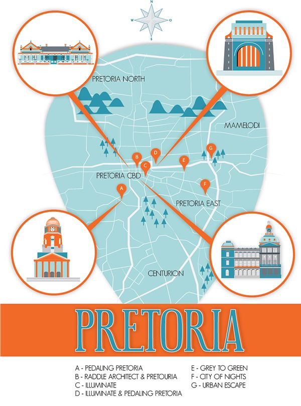 Newspaper & Map of Pretoria on Behance by Arnica Botha