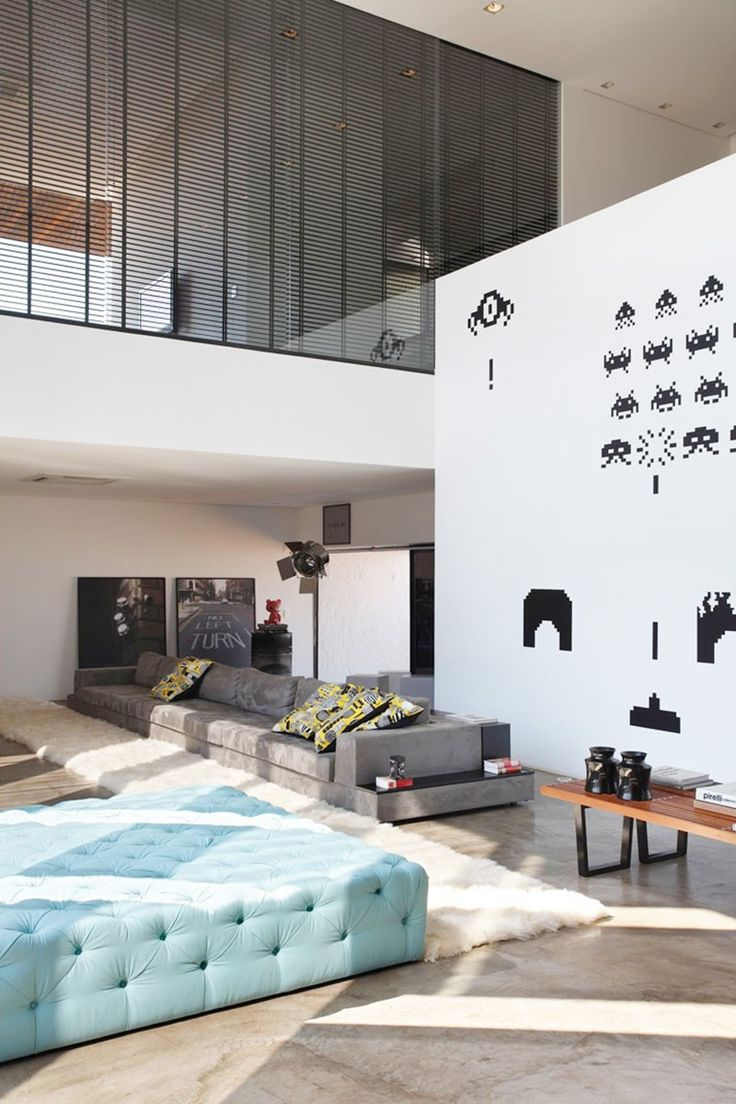 LA House by Guilherme Torres - love the Pac-Man wall art!