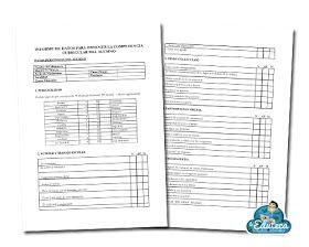 Modelo de registro de datos para obtener la competencia curricular de un alumno. Este documento puede ser utilizado en memorias finales ...