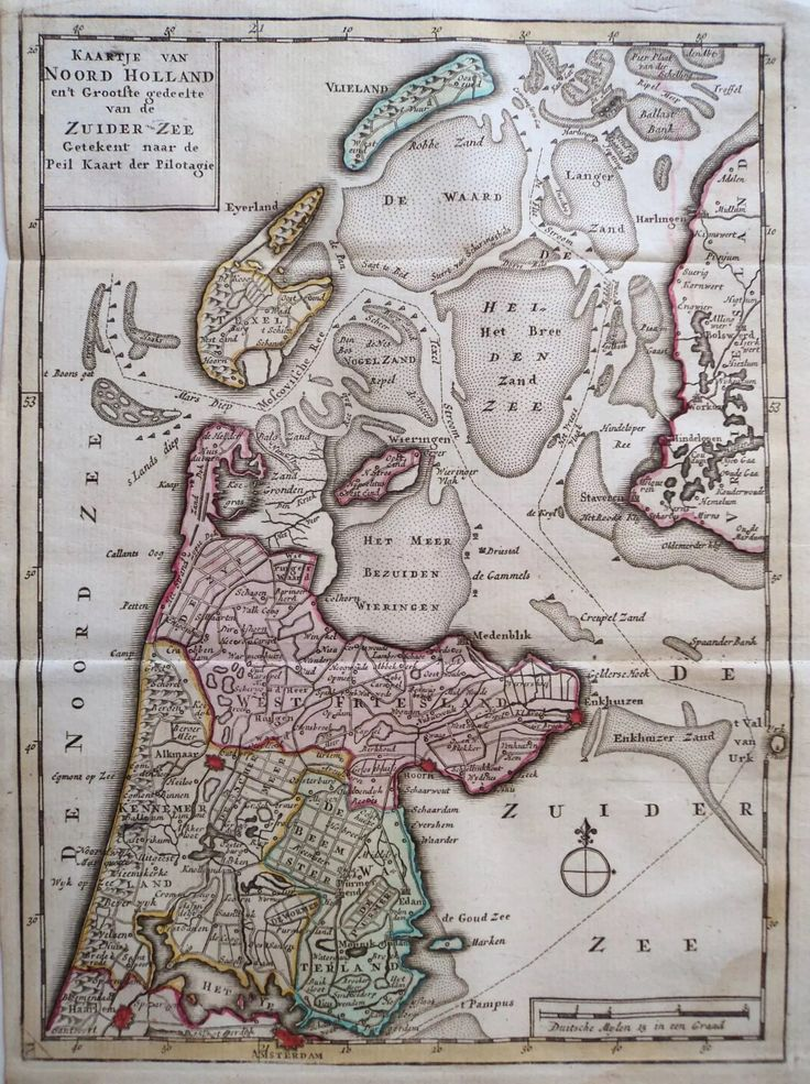 ca 1650 Pilotage map of North