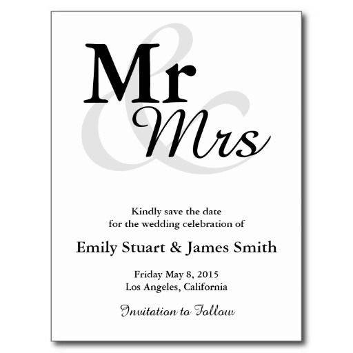 Best Mr And Mrs Wedding Postcards Images On   Card