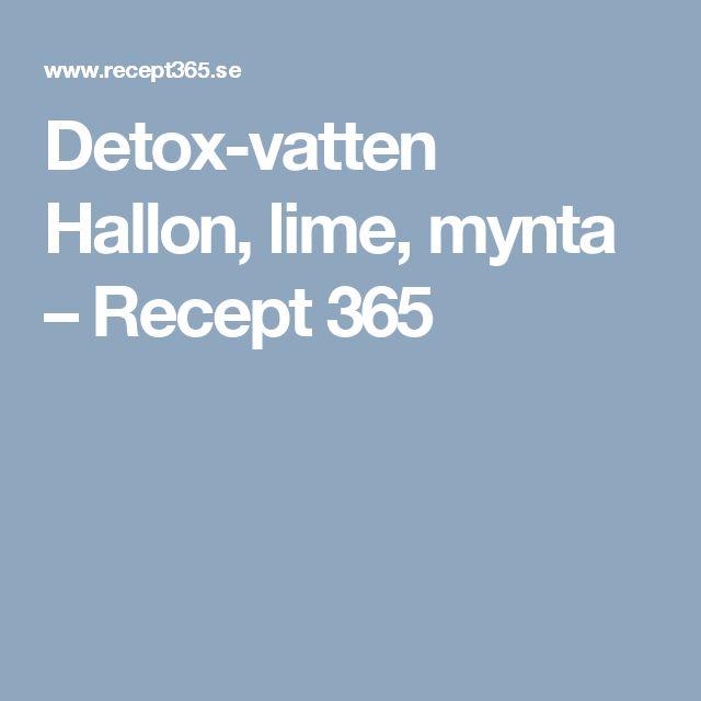 Detox-vatten Hallon, lime, mynta – Recept 365