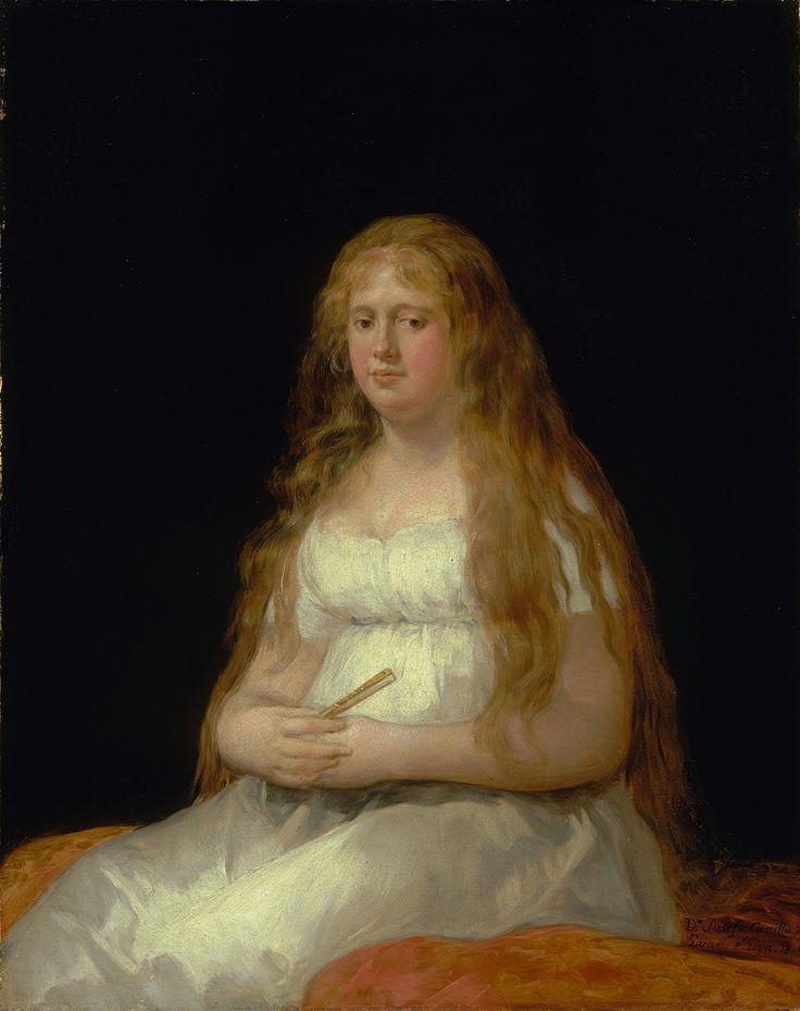 """Francisco de Goya: """"Josefa de Castilla Portugal y van Asbrock de Garcini"""". The…"""
