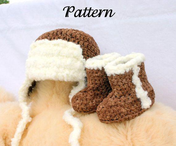 Baby aviator hat and boots PDF crochet by lovinghandscrochet, $3.00